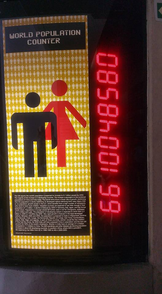 Global population statistics at the Maropeng museum